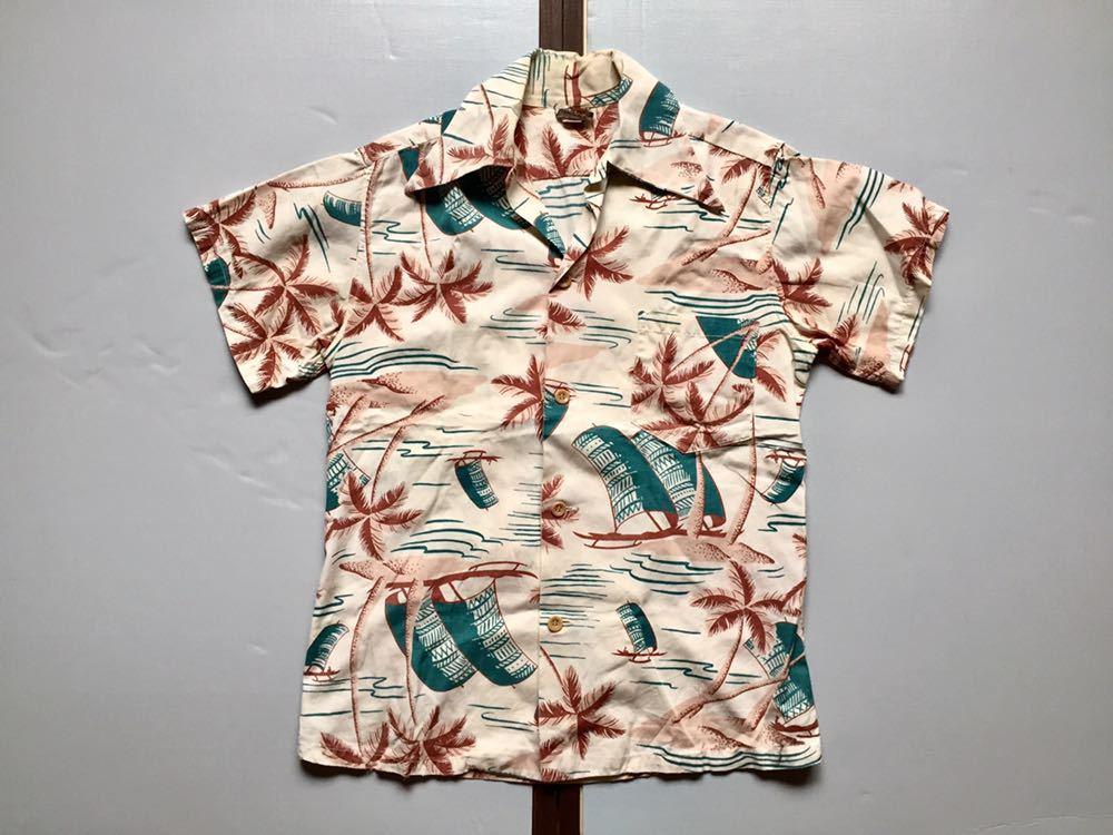50's Catalina コットンシャツ 30's 40's ビンテージ ハワイアンシャツ アロハシャツ
