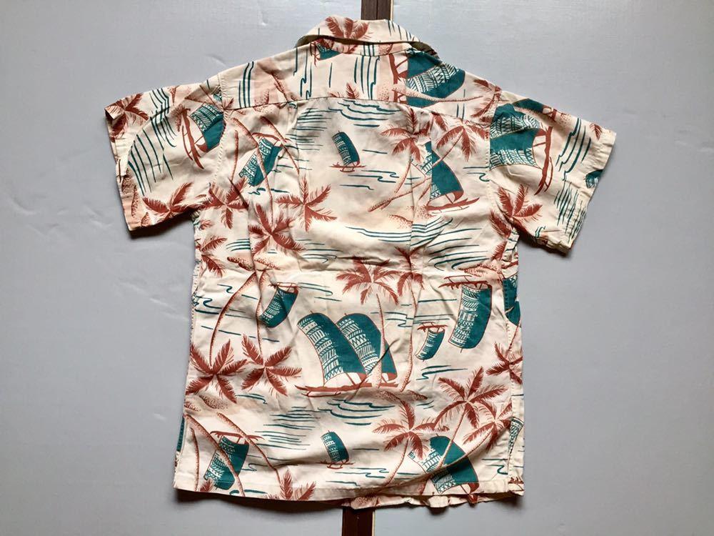 50's Catalina コットンシャツ 30's 40's ビンテージ ハワイアンシャツ アロハシャツ_画像2