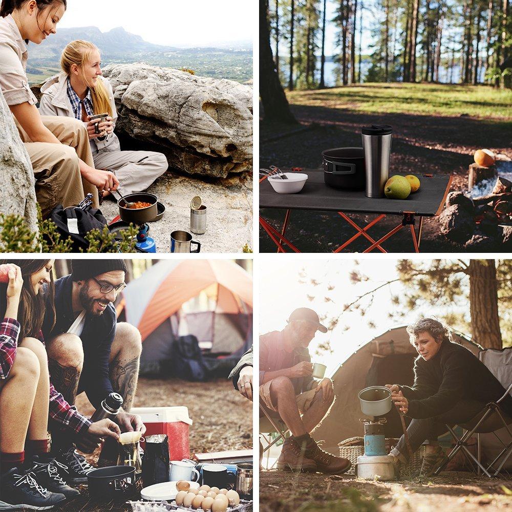 O570 新品 クッカーセット キャンプ用品 アウトドア鍋 ポータブル アウトドア調理器具セット 23人に適応 10点セット_画像6