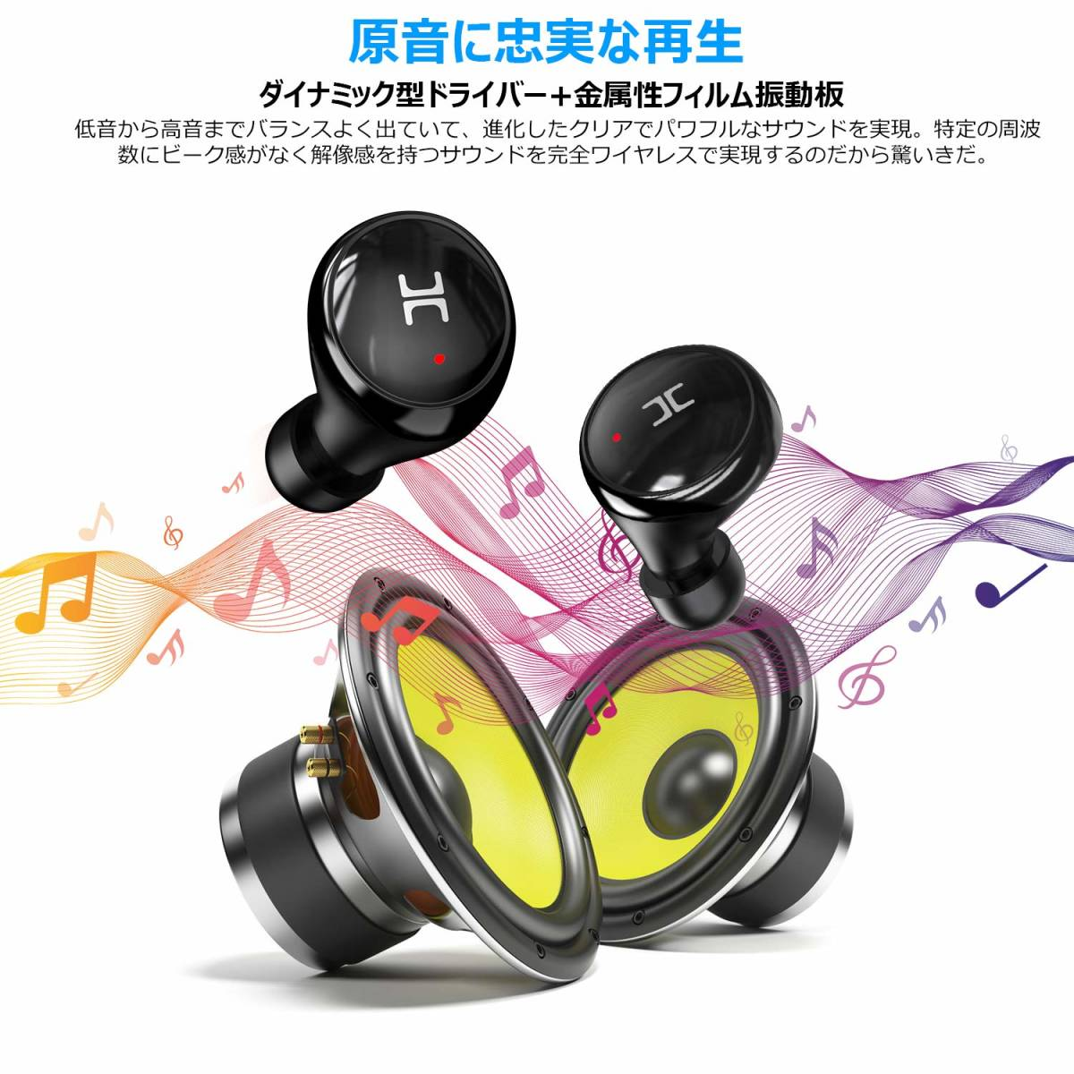 O420 新品 完全ワイヤレスイヤホン Bluetooth イヤホン イヤフォン ワイヤレスイヤホン IPX8 Bluetooth5.0 iPhone Android 対応 おすすめ_画像6