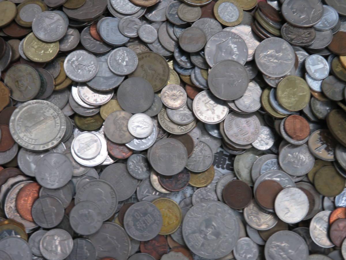 【外国コイン】外国銭まとめて10Kg アメリカなど世界各国コイン 未選別 大型コインなど_画像7