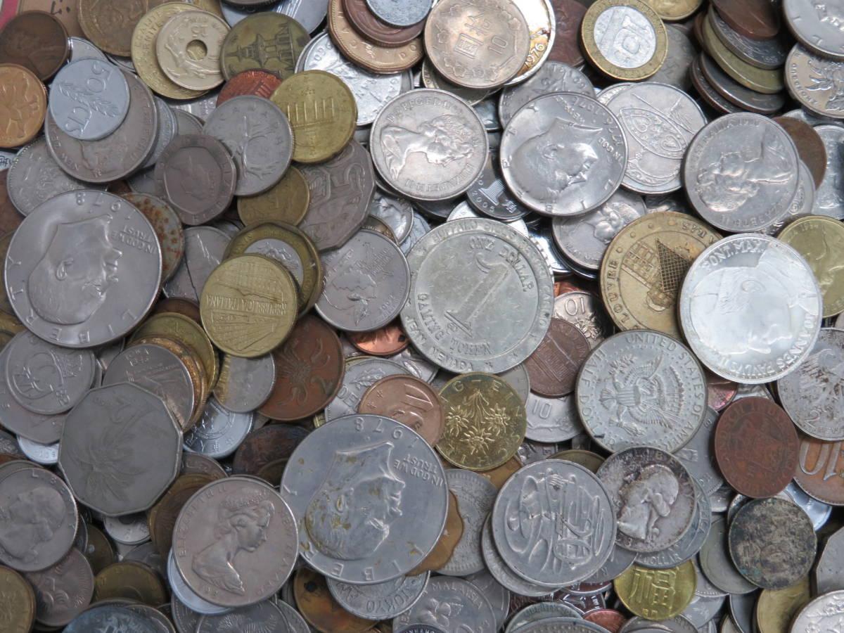 【外国コイン】外国銭まとめて10Kg アメリカなど世界各国コイン 未選別 大型コインなど_画像3