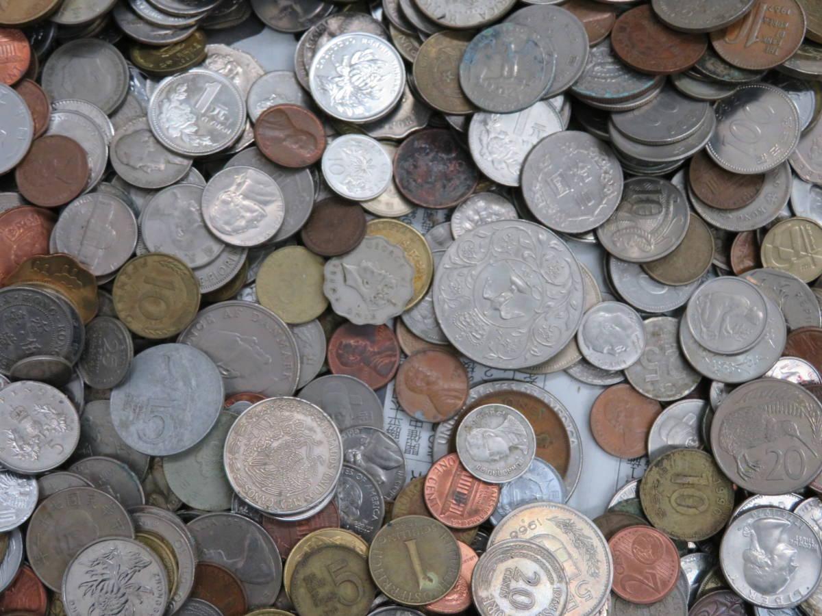 【外国コイン】外国銭まとめて10Kg アメリカなど世界各国コイン 未選別 大型コインなど_画像6