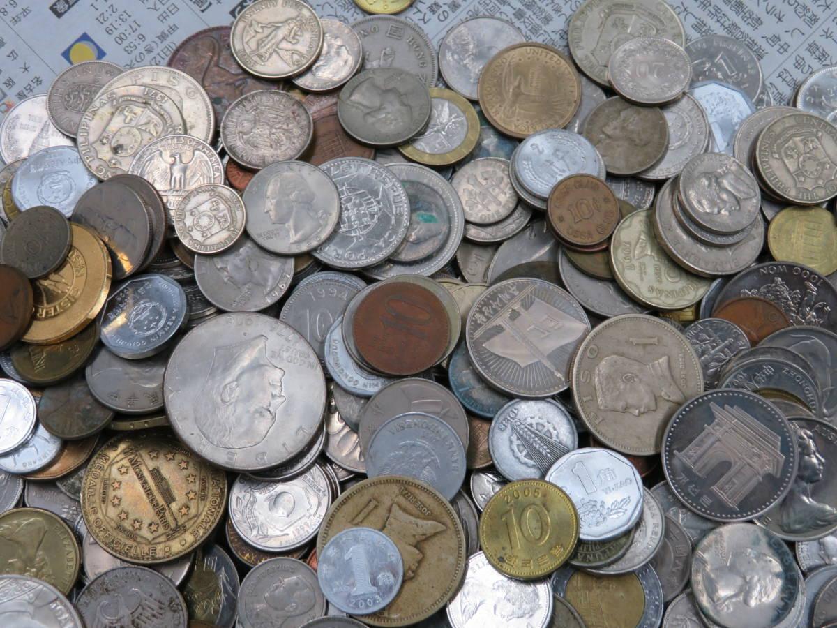 【外国コイン】外国銭まとめて10Kg アメリカなど世界各国コイン 未選別 大型コインなど_画像4