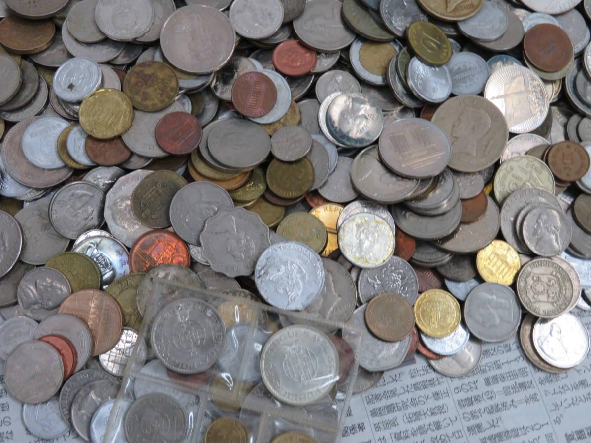 【外国コイン】外国銭まとめて10Kg アメリカなど世界各国コイン 未選別 大型コインなど_画像5
