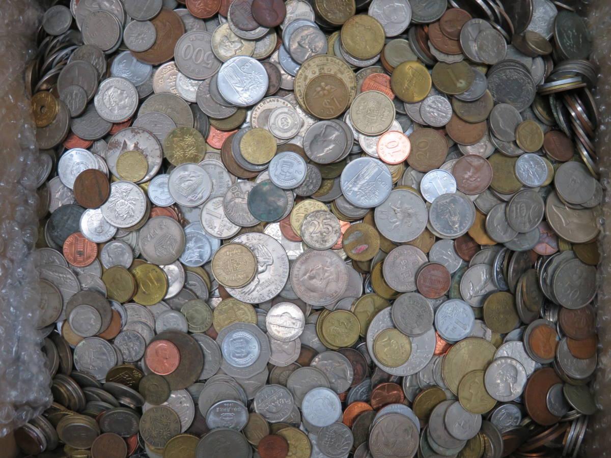 【外国コイン】外国銭まとめて10Kg アメリカなど世界各国コイン 未選別 大型コインなど_画像9