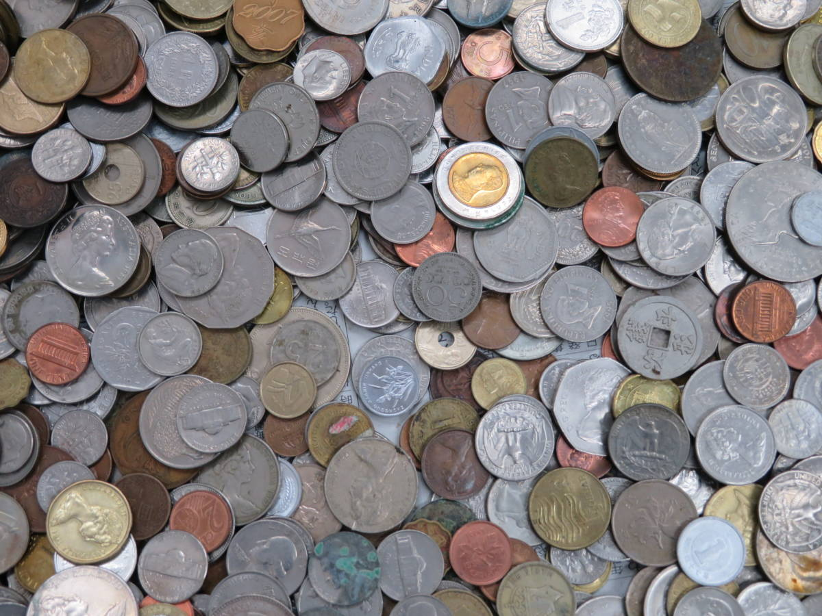 【外国コイン】外国銭まとめて10Kg アメリカなど世界各国コイン 未選別 大型コインなど_画像8