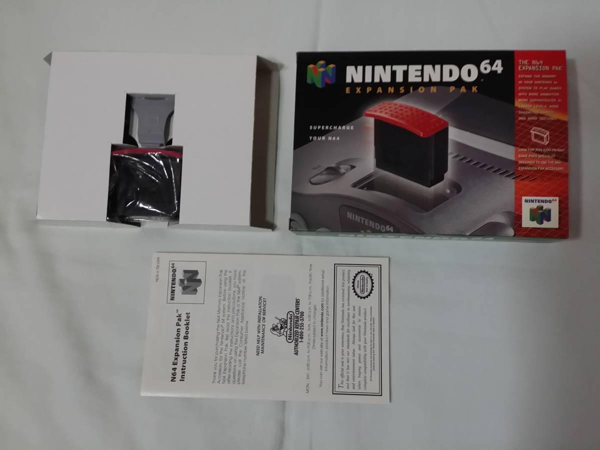 N64 海外版 Expansion Pak Memory Pack メモリー拡張パック ハイレゾパック nus-007 nus-012 箱説付き 北米版_画像2