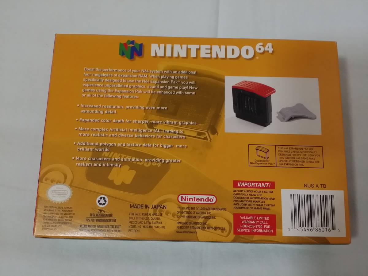 N64 海外版 Expansion Pak Memory Pack メモリー拡張パック ハイレゾパック nus-007 nus-012 箱説付き 北米版_画像10