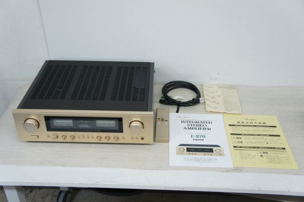 A123516S】美品 Accuphase アキュフェーズ E-270 プリメインアンプ リモコン 保証書 元箱有り