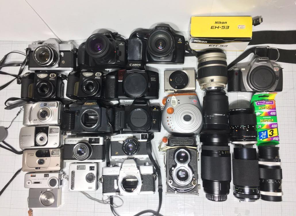 ミノルタ オートコード オリンパス 35 miミノルタ α7zi チェキ コンパクトカメラ その他 まとめ セット 動作未確認 ジャンク_画像2