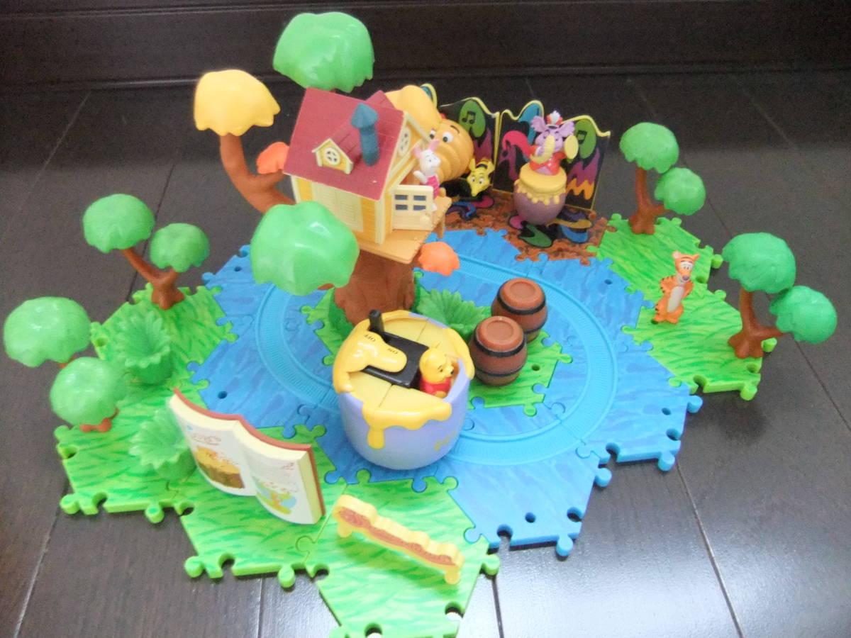 ディズニーランド ジオラマップ プーさんのハニーハント ファンタジーランド ミニチュア おもちゃ ジオラママップ ティガー ピグレット_画像2