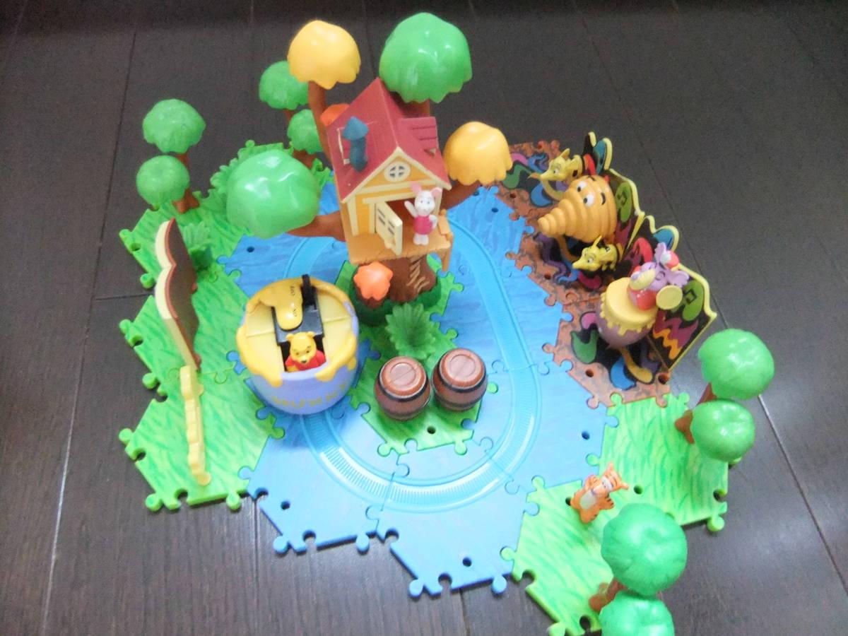 ディズニーランド ジオラマップ プーさんのハニーハント ファンタジーランド ミニチュア おもちゃ ジオラママップ ティガー ピグレット_画像3