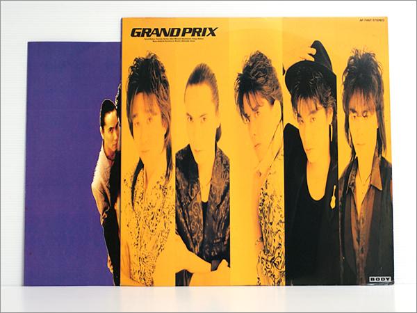 1988年発売のLPレコード・見本盤・歌詞カード汚れ● GRAND PRIX グランプリ / Tears & Soul ティアーズ&ソウル 関連:MAKE-UP, grandprix_1988年LPレコード見本/カード汚れ/盤きれい