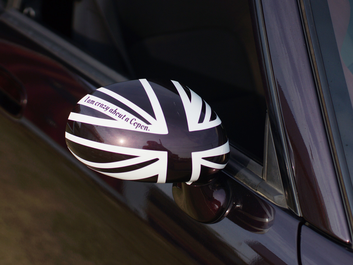 ユルスタ★サイドミラー ユニオンジャックステッカー/コペン ローブ セロ エクスプレイ L880K LA400K Copen Robe Cero:純正ミラー対応_運転席側