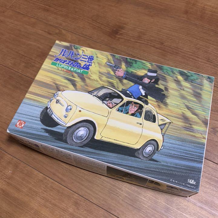 【絶版】フィアット500 ルパン三世 カリオストロの城 プラモデル 追跡 1/24 グンゼ LUPIN FIAT チンクエチェント ABARTH アバルト 次元大介