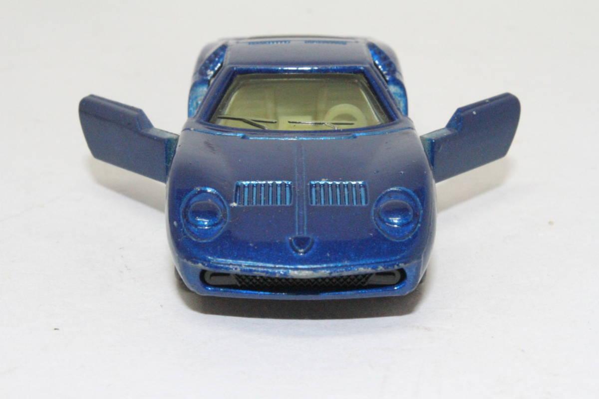 ☆ミニカー祭☆ トミカ 外国車シリーズ ランボルギーニ ミウラ SV SCALE 1/62 F40 日本製 青箱_画像6