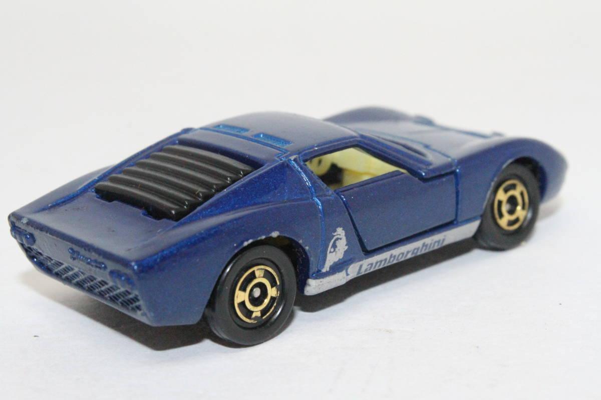 ☆ミニカー祭☆ トミカ 外国車シリーズ ランボルギーニ ミウラ SV SCALE 1/62 F40 日本製 青箱_画像5