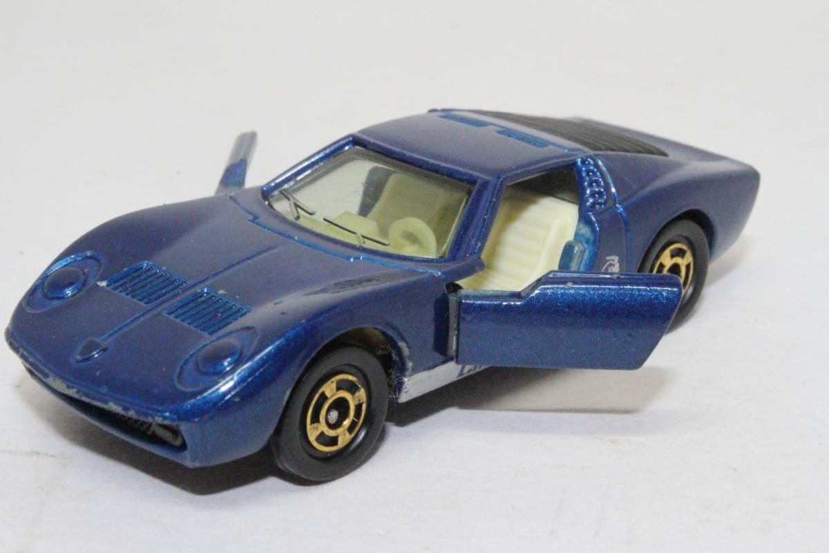 ☆ミニカー祭☆ トミカ 外国車シリーズ ランボルギーニ ミウラ SV SCALE 1/62 F40 日本製 青箱_画像10