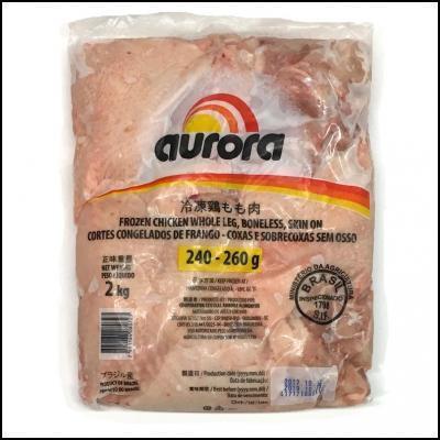 ★【鶏-B】BR鶏もも240/260 \558/kg 2kg×1(2kg)煮込み 水炊き 茶わん蒸し カレー 照り焼き 唐揚げ 鶏天 焼き鳥 チキンカツ ステーキ_画像1
