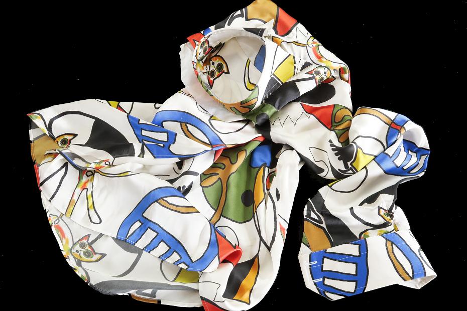 ★イタリアシルクシャツ DANROMA SILK SATIN DUE BOTTONI CONI GATTI 痛快!仰天!SURPRISE!最高にうれしく楽しくネコちゃんす S 38-87_画像3