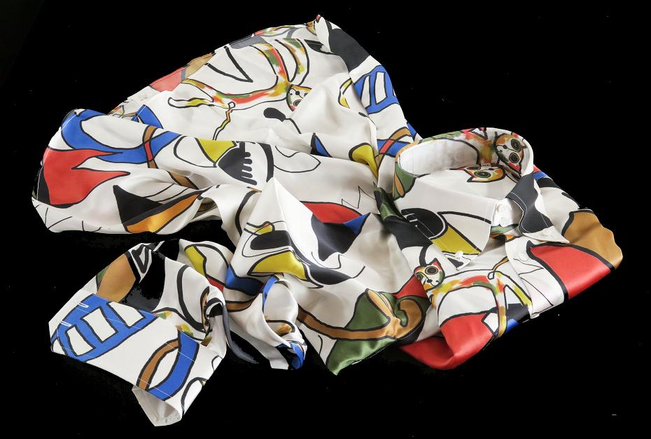 ★イタリアシルクシャツ DANROMA SILK SATIN DUE BOTTONI CONI GATTI 痛快!仰天!SURPRISE!最高にうれしく楽しくネコちゃんす S 38-87_画像5