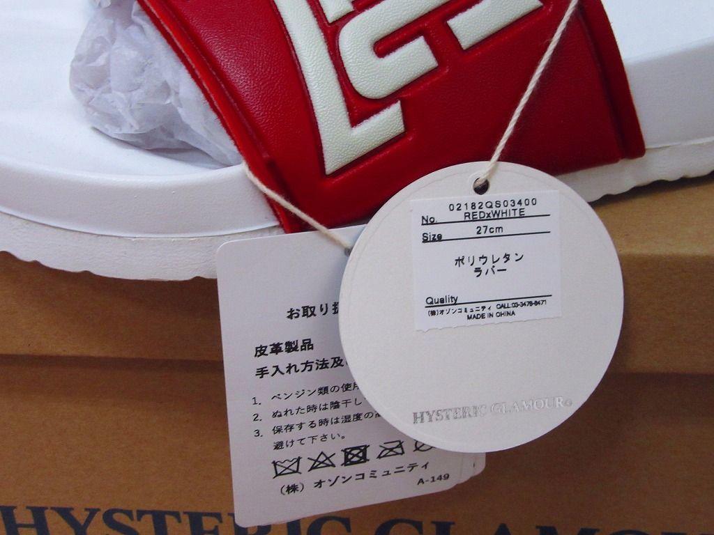 18SS ヒステリックグラマー HYSTERIC LOGO HEAVEN サンダル 27cm 新品未使用付属全て付き_画像4