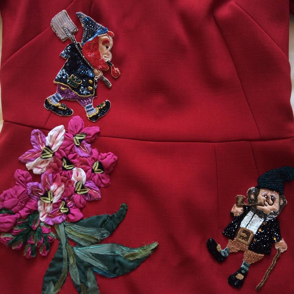 【 DOLCE&GABBANA 】ドルチェ&ガッバーナ ★ビジュー・装飾ドレス★1回着用★_画像5