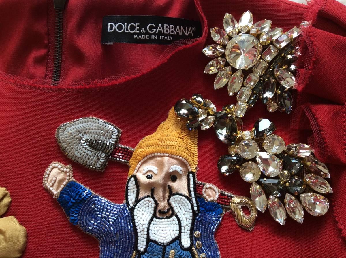 【 DOLCE&GABBANA 】ドルチェ&ガッバーナ ★ビジュー・装飾ドレス★1回着用★_画像4