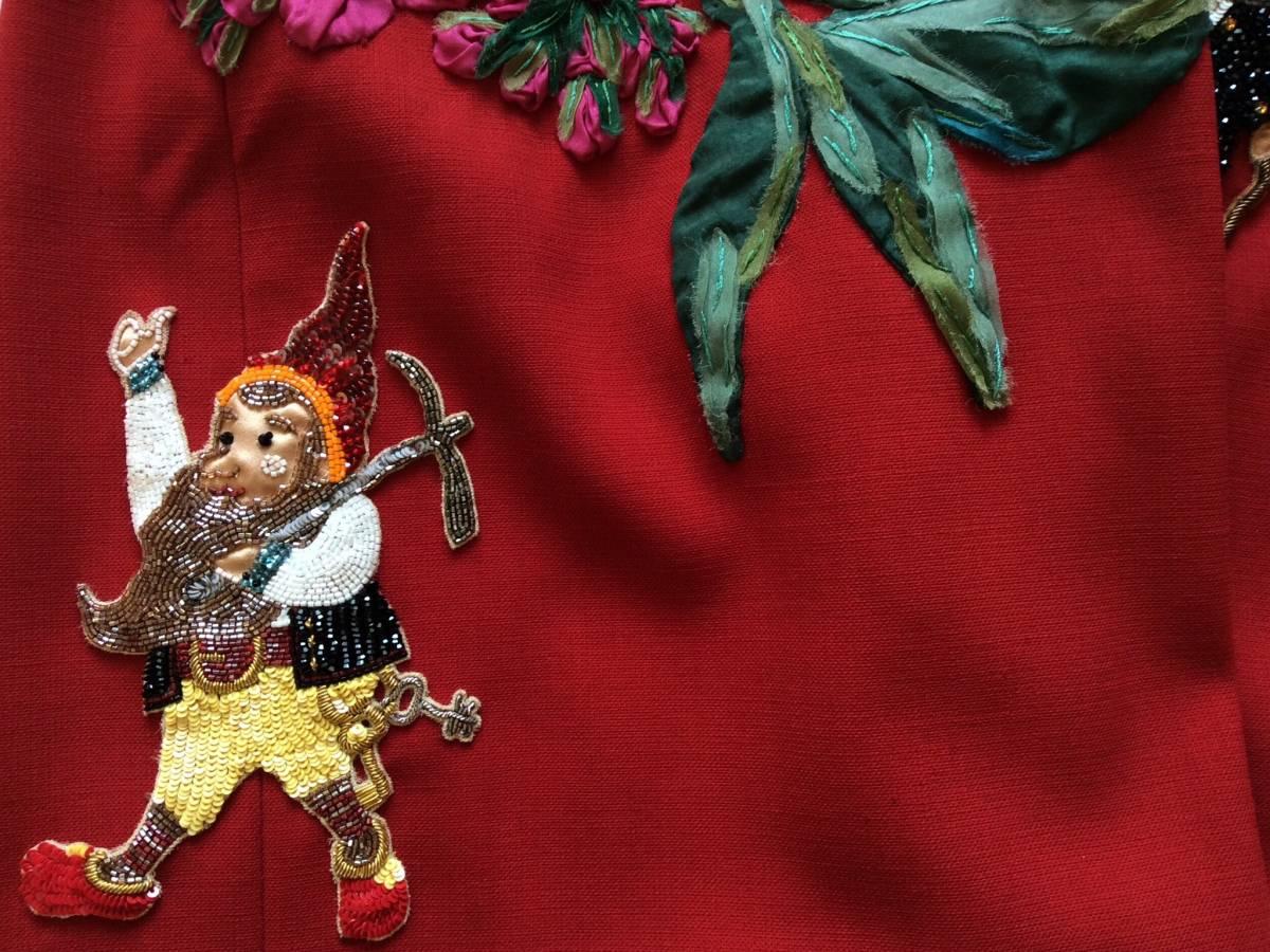 【 DOLCE&GABBANA 】ドルチェ&ガッバーナ ★ビジュー・装飾ドレス★1回着用★_画像7