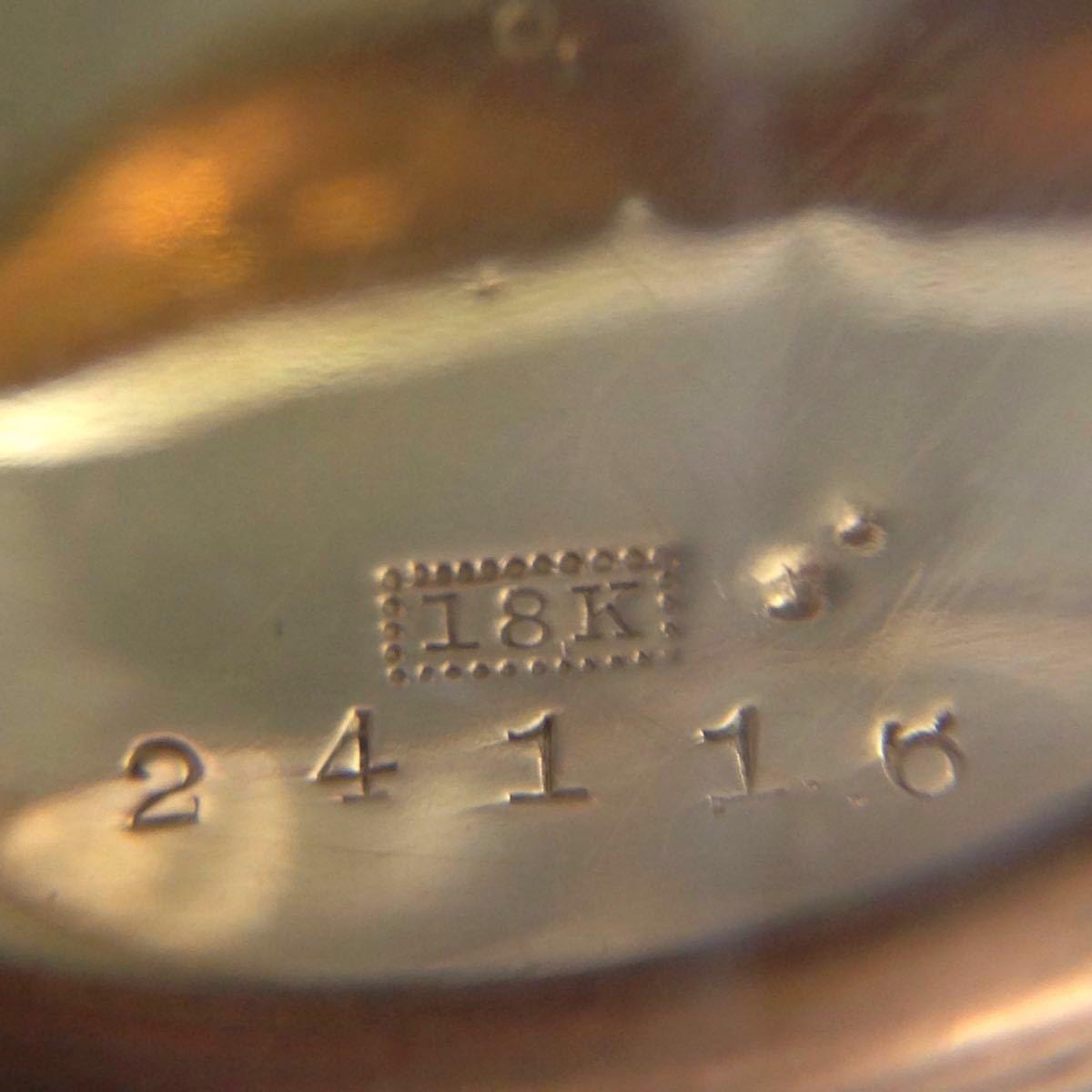 T694【評価1000記念☆1円~】REVUE(レビュー) 懐中時計 18K ACCURATE AND DURABLE SPLENDID 時計 アンティーク ヴィンテージ_画像4