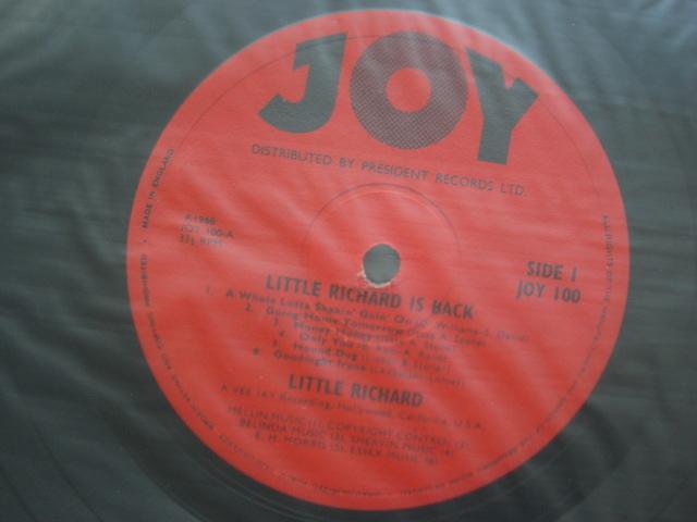 *【LP】Little Richard/Little Richard Is Back(JOY100)(輸入盤)_画像4