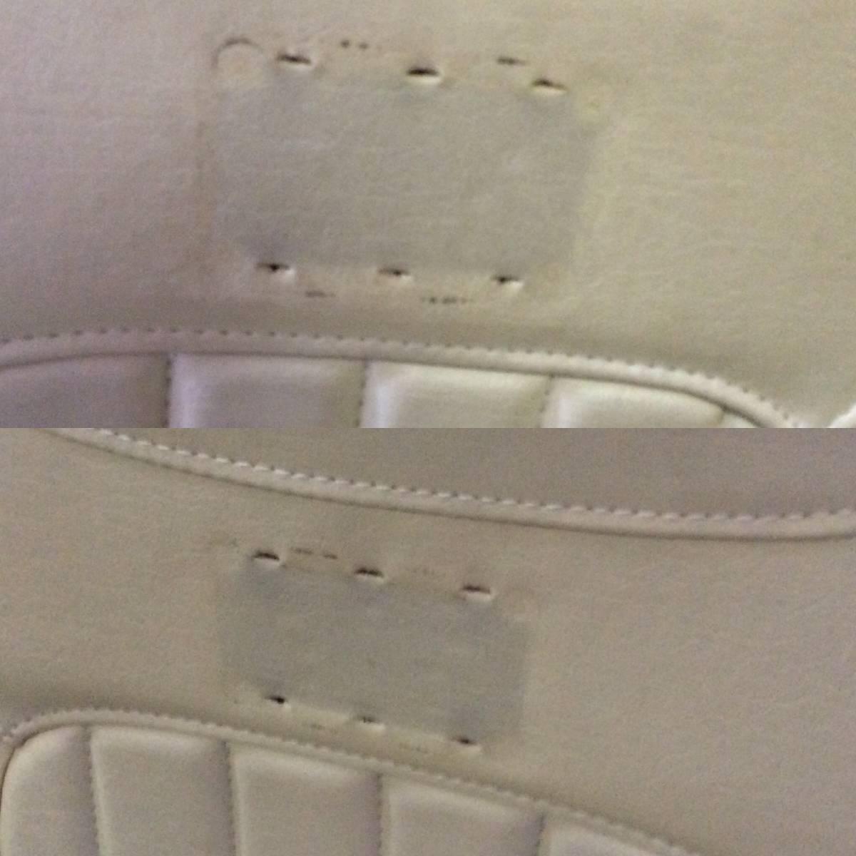 修理 クリーニング必要 汚れ・破れ・痛み・匂い有でメーカー不明につきジャンク品 L880K コペン用?シートカバー アイボリー系 左右セット_画像10