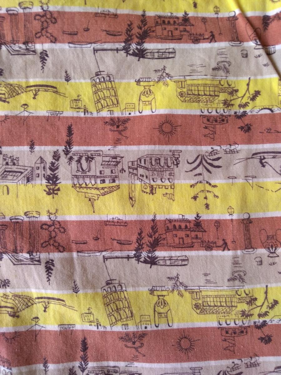 50sビンテージ オープンカラー柄シャツ アロハシャツ ハワイアンシャツ_画像5