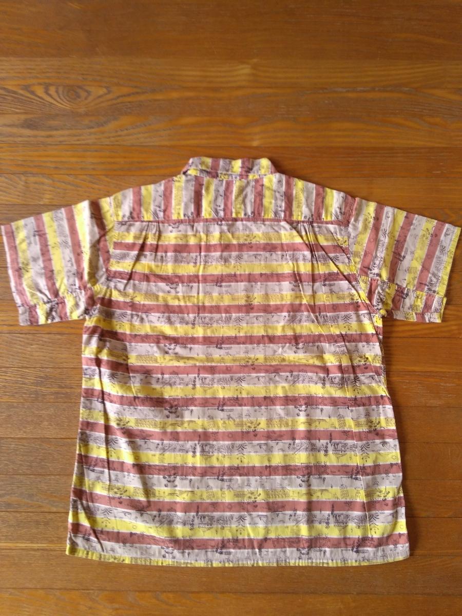 50sビンテージ オープンカラー柄シャツ アロハシャツ ハワイアンシャツ_画像6
