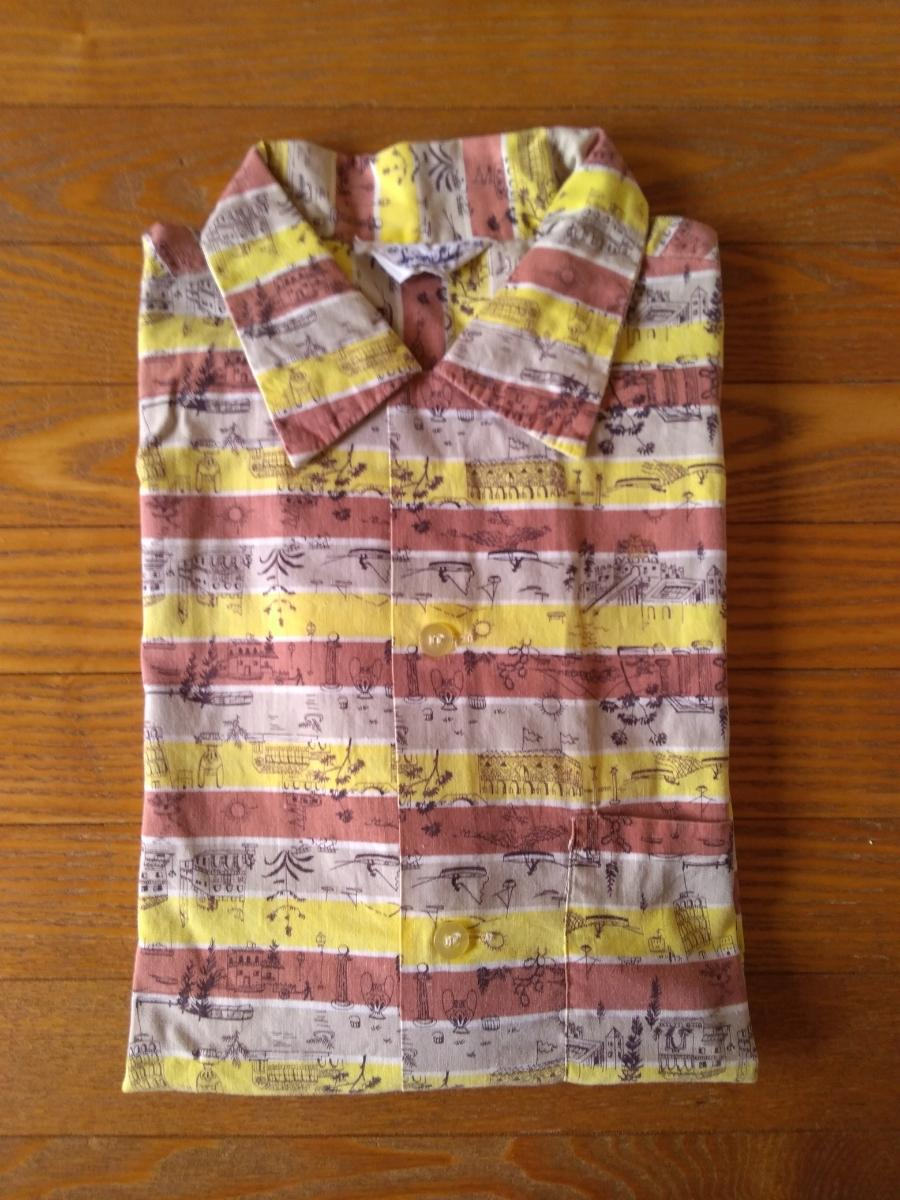 50sビンテージ オープンカラー柄シャツ アロハシャツ ハワイアンシャツ