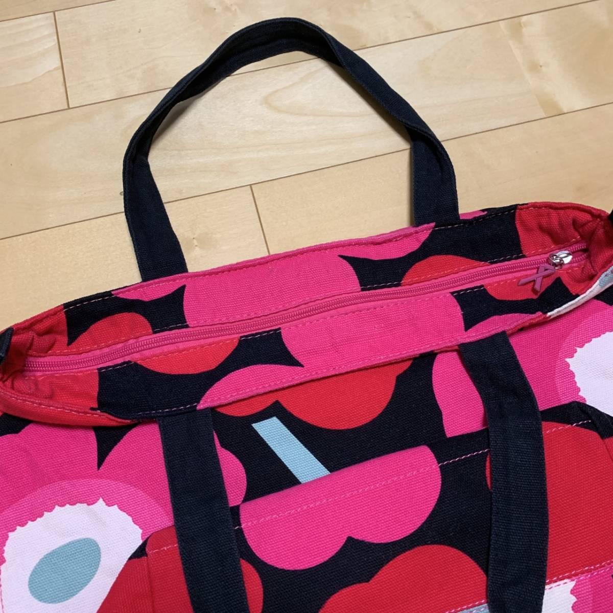 marimekko マリメッコ トートバッグ キャンバス 花柄 マザーズバッグ_画像4