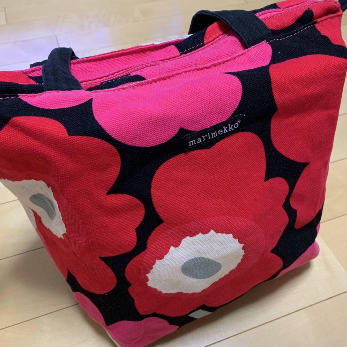 marimekko マリメッコ トートバッグ キャンバス 花柄 マザーズバッグ_画像5