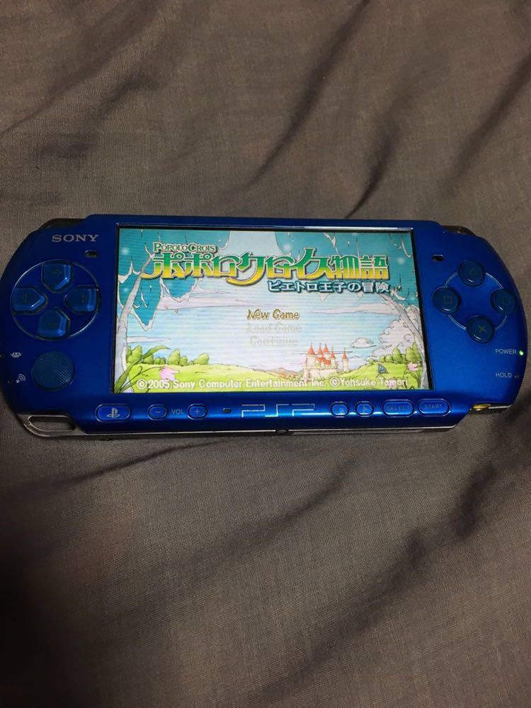 PSP 本体 動作品 ソフトセット SONYメモリースティック4G付き ポポロクロイス物語 充電器付き_画像2