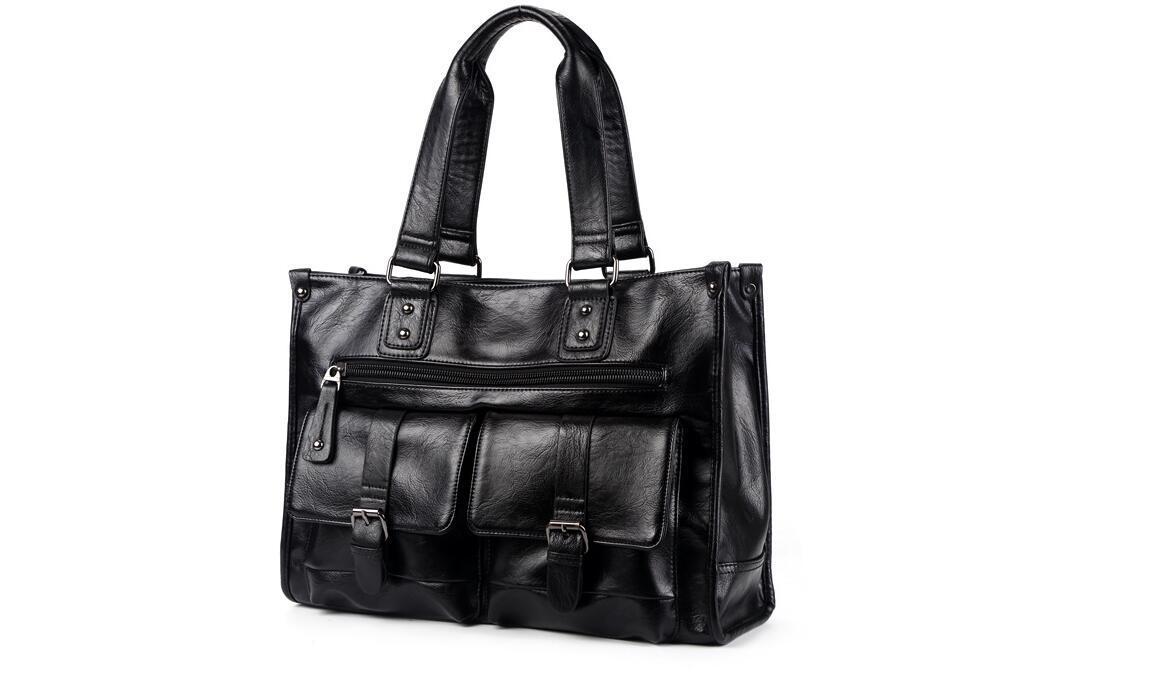 絶賛発売中商品 高品質トートバッグ 通勤書類鞄 男女兼用 大容量 PC14 A4対応 ビジネスバッグ 収納便利鞄_画像2