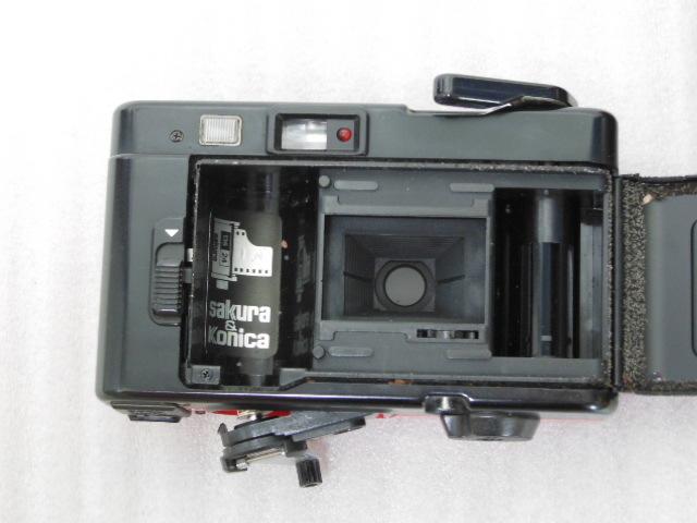 Konica コニカ C35 EF3 赤 HEXANON F2.8 35mm コンパクトフィルムカメラ_画像5