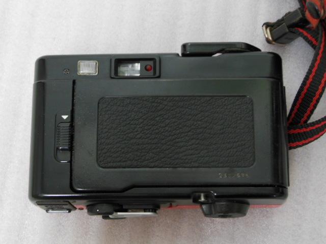 Konica コニカ C35 EF3 赤 HEXANON F2.8 35mm コンパクトフィルムカメラ_画像8