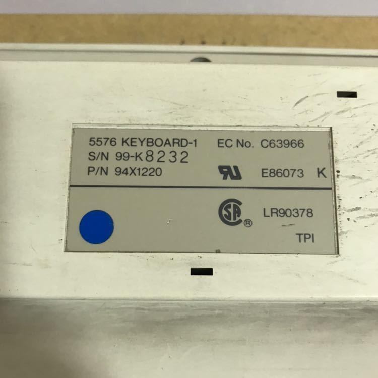IBM 5576 KEYBOARD-1 本体のみ 動作未確認み [492#)_画像5