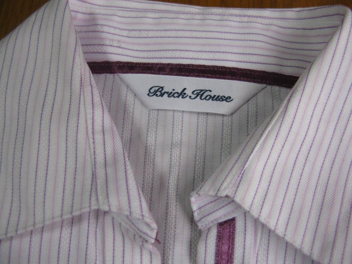c81a75a924d40e ブリックハウス東京シャツSサイズレディース半袖シャツストライプブラウス送料185円brick house. 商品數量: :1