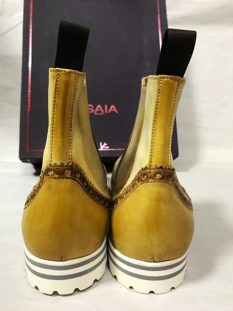 価約12万円 新品 イザイア ISAIA NAPOLI アンティーク パティーヌ ブーツ レザーシューズ 革靴 ビジネスシューズ メンズ ドレスシューズ _画像5