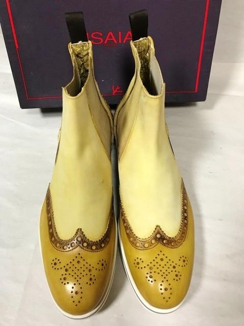価約12万円 新品 イザイア ISAIA NAPOLI アンティーク パティーヌ ブーツ レザーシューズ 革靴 ビジネスシューズ メンズ ドレスシューズ _画像7