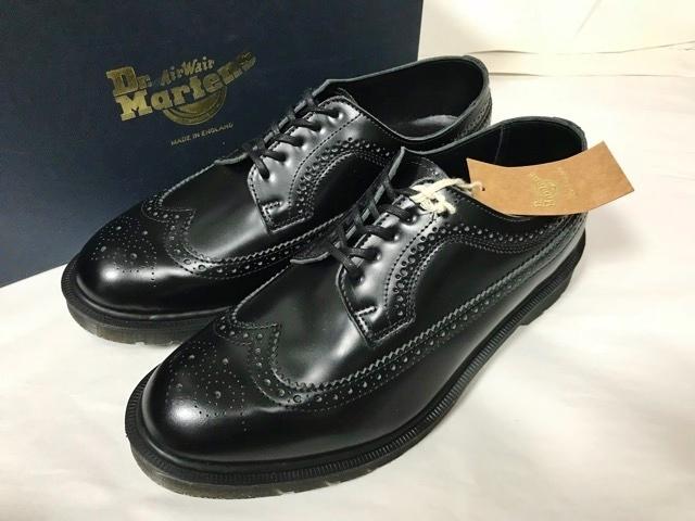 新品 ドクターマーチン Dr.Martens イギリス製 ビジネスシューズ 革靴 ポストマンシューズ レザーシューズ UK 冠婚葬祭 ブーツ ブラック