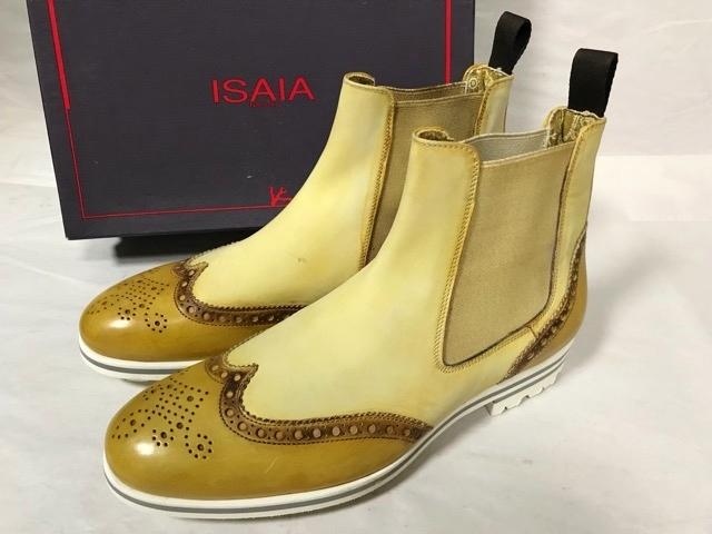 価約12万円 新品 イザイア ISAIA NAPOLI アンティーク パティーヌ ブーツ レザーシューズ 革靴 ビジネスシューズ メンズ ドレスシューズ