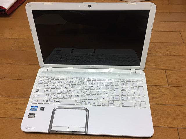 【ジャンク品】東芝dynabook T552/36GWJ HDD500GB メモリ8GB Core i3-3110M (2.40GHz) ブルーレイ_画像2