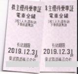 ★送料込☆東武鉄道株主優待乗車証(2枚)